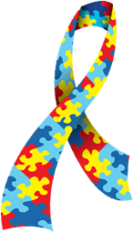 Puzzle graphic of the Autism Ribbon.